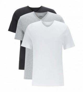 Buy Hugo Boss Pack of 3 T-shirts VN CO 10145963 01 white, black, grey