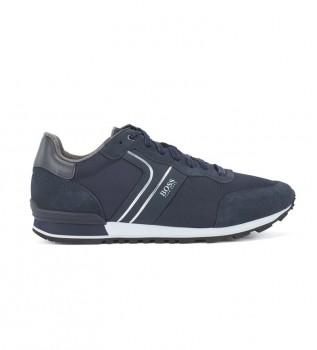 Comprare Hugo Boss Sneakers Parkour Runn in pelle blu