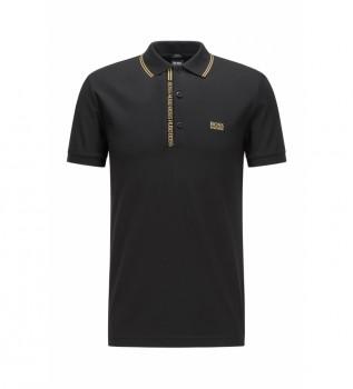 Buy Hugo Boss Slim fit polo shirt black