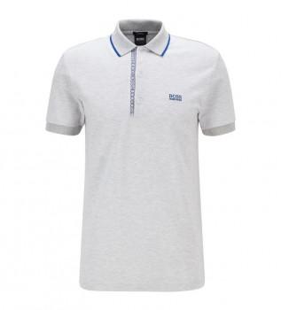 Acheter Hugo Boss Polo en coton mélangé avec bloc de couleur blanc