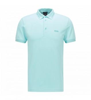 Comprar Hugo Boss Polo Slim Fit con Logo en Cuello Paule azul
