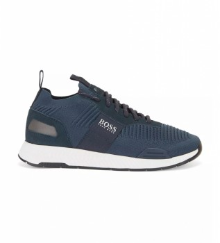 Comprare Hugo Boss Sneakers Runn knst1 in pelle titanio 10232616 01 navy
