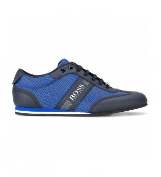 Comprare Hugo Boss Sneakers Low Top in rete e tessuto gommato blu