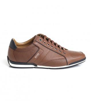 Buy Hugo Boss Leather sneakers 50417392 brown