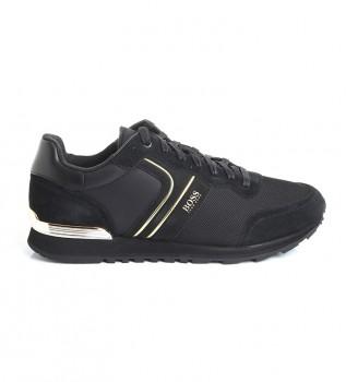 Acheter Hugo Boss Parkour Runn chaussures en cuir noir