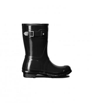 Buy Hunter Bajas black wellington boots