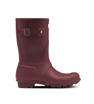 Buy Hunter Boots Original Short burgundy -Cane height: 23cm