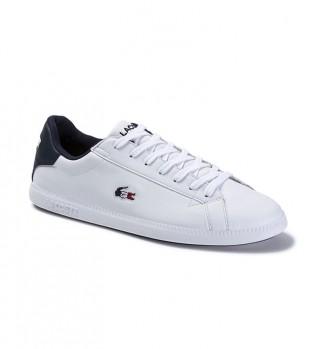 Comprar Lacoste Zapatillas de piel Graduate blanco, marino