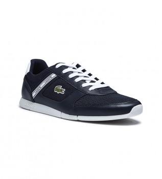 Comprare Lacoste Sneakers in pelle Menerva blu scuro