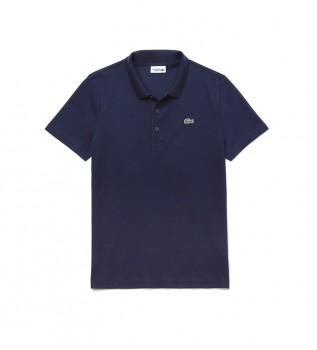 Comprare Lacoste Polo sportiva in misto cotone blu scuro Otomán