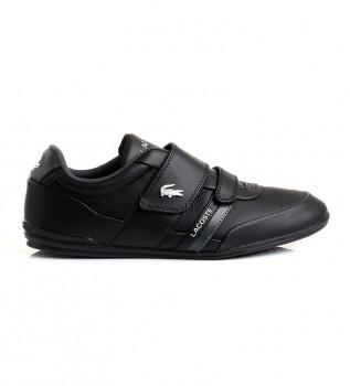 Comprare Lacoste Sneaker Misano Strap in pelle nera