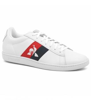 Acheter Le Coq Sportif Cuir CourtClassic Chaussures drapeau blanc