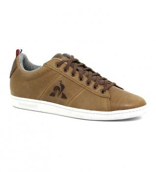 Acheter Le Coq Sportif Baskets en cuir brun Hiver Courtclassic
