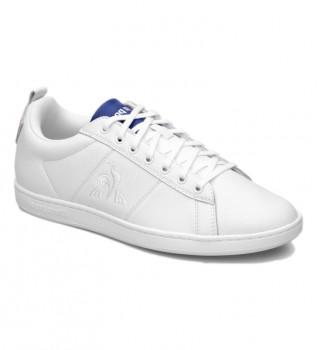 Acheter Le Coq Sportif Baskets Court Classic Sport en cuir blanc