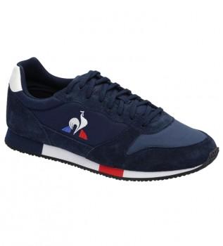 Acheter Le Coq Sportif Baskets Alpha en cuir bleu marine