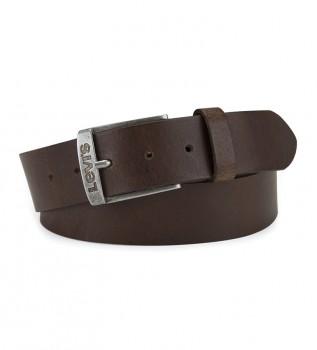 Buy Levi's New Duncan brown leather belt