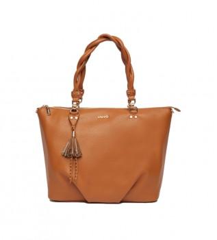 Comprare Liu Jo Tote bag marrone ecosostenibile -43x18x30cm-
