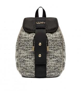 Buy Liu Jo Jacquard backpack black -19x15x18cm
