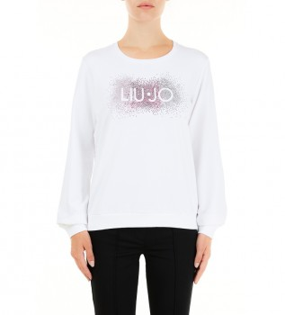 Comprare Liu Jo TA1161 F0831 felpa bianca