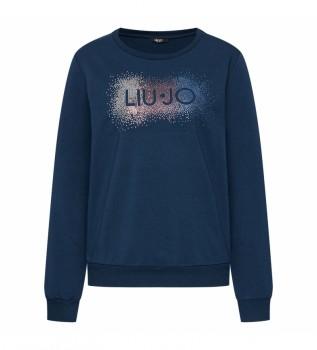 Buy Liu Jo Sweatshirt with Logo TA1161 F0831 blue
