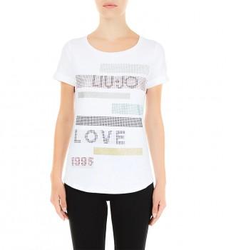 Acheter Liu Jo T-shirt TA1163 J5003 blanc