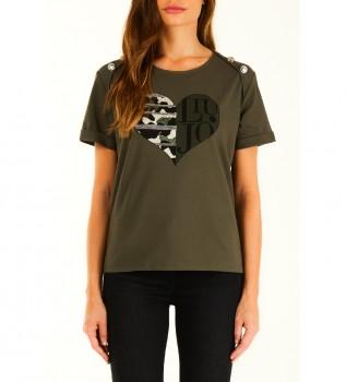 Comprar Liu Jo Camiseta TF1009-J0088-90511 verde