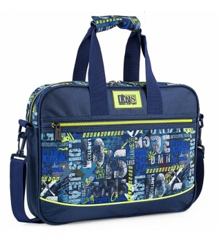 Buy Lois 15.6 Inch Laptop Briefcase Bag Urban Design Skater Graffiti 131706 navy blue -39x29x6cm