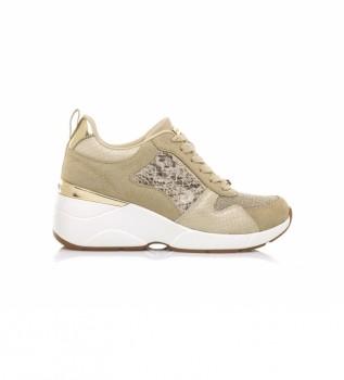 Buy MARIAMARE Sneakers 68034 beige -Height wedge: 6.5 cm