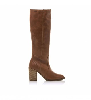 Buy Mustang Leather boots Uma leather -Height heel 7,5cm