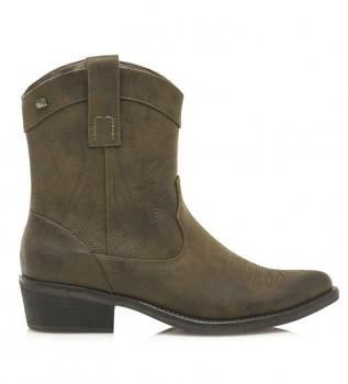 Buy Mustang Nubis taupe boots -Heel height: 4cm