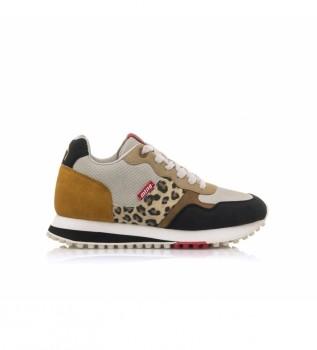 Buy Mustang Sneakers Selva Leopard black, mustard