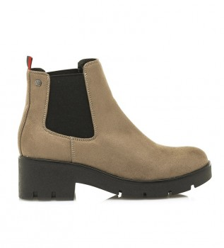 Buy Mustang Ankle boots Pass taupe -Heel height + platform: 6 cm