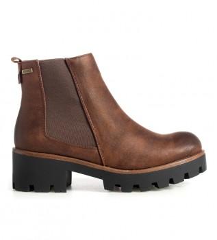 Buy Mustang Sauro brown boots -heel height: 5cm-