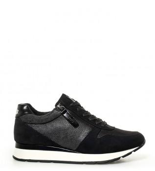 f9d693545507d Zapatillas Trant negro -Altura suela  4cm-