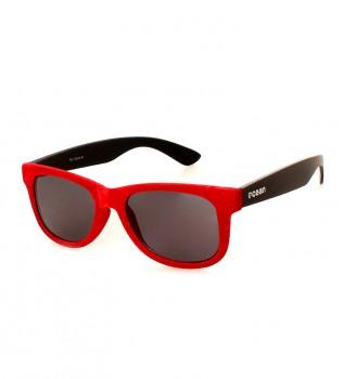 2756bf5b4d Gafas de sol Trieste terciopelo rojo, negro mate