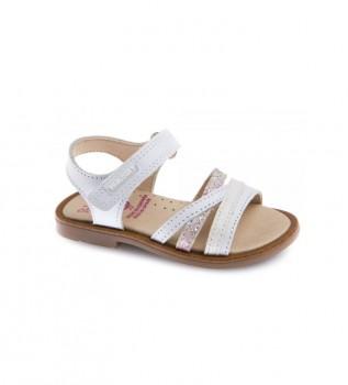 Comprar Pablosky Sandálias de couro branco Celia