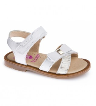 Buy Pablosky Celia white leather sandals