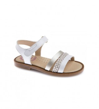 Buy Pablosky Leather sandals Celia 480408 white