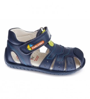 Buy Pablosky Kenia navy leather sandals
