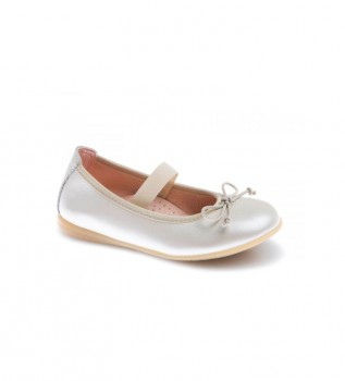 Buy Pablosky Leyre ivory leather ballerina pumps