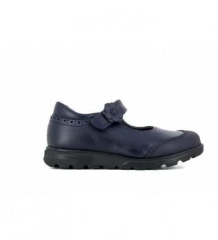 Buy Pablosky Navy blue 334020 leather ballet pumps