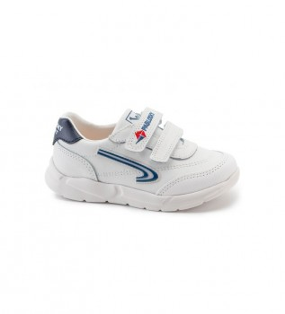 Buy Pablosky Leather sneakers Xemit 278102 white, navy