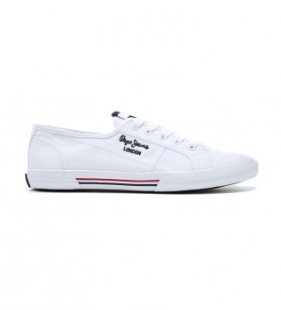 Buy Pepe Jeans Aberlady Ecobass white shoes