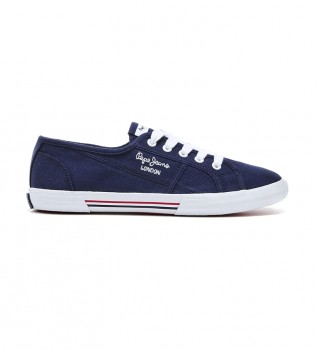 Buy Pepe Jeans Aberlady Ecobass navy shoes