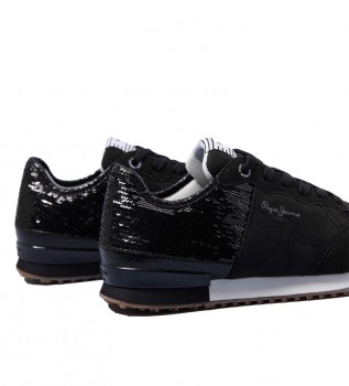 Comprare Pepe Jeans Sneakers con paillettes Archie nere