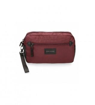 Buy Pepe Jeans Lambert burgundy handbag -24.5x15x6cm