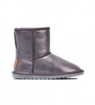 Buy Pepe Jeans Silver Angel leather ankle boots
