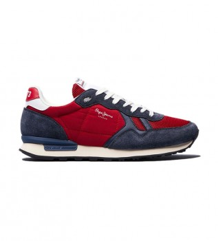 Buy Pepe Jeans Britt Reverse red leather shoes