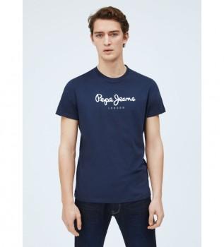 Comprare Pepe Jeans Maglietta basic Logo Eggo navy