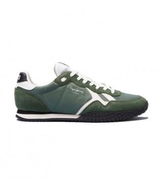 Acheter Pepe Jeans Chaussures en cuir vert Hollande
